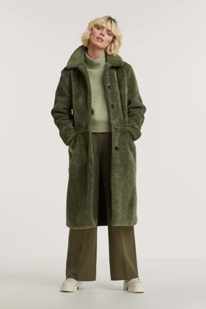 teddy winterjas Moussy groen