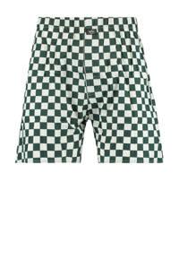 America Today geblokte boxershort groen/wit, Groen/wit