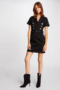 Morgan jurk met ceintuur zwart, Zwart