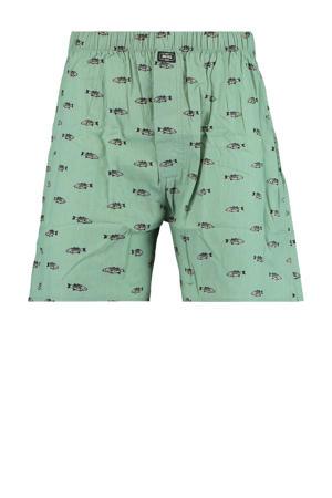 boxershort met all over print groen