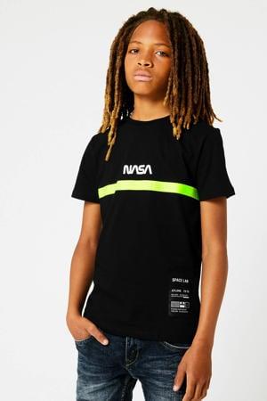 T-shirt Nasa Echo met tekst zwart
