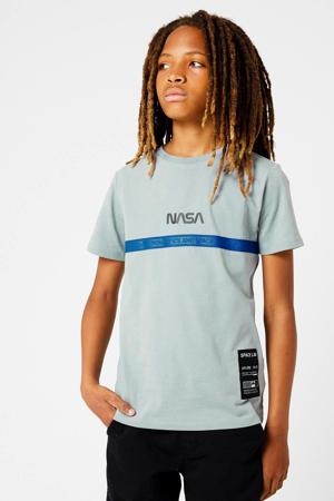 T-shirt Nasa Echo met tekst grijs