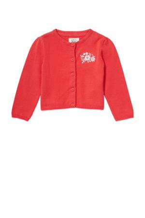 baby vest van biologisch katoen rood