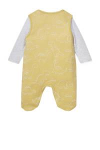C&A Baby Club boxpak + romper geel/lichtgrijs, Geel/lichtgrijs