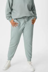 C&A XL Clockhouse tapered fit broek met biologisch katoen mintgroen, Mintgroen
