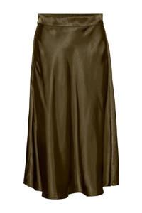 VERO MODA rok VMXARA  van gerecycled polyester olijfgroen, Olijfgroen