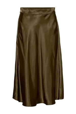 rok VMXARA  van gerecycled polyester olijfgroen