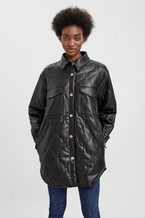 coated imitatieleren jas tussenjas VMDUFFY  zwart