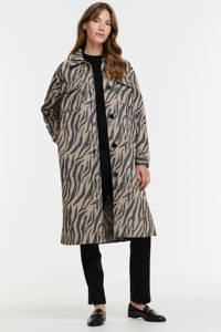 JDY  coat JDYUMALA met dierenprint bruin/zwart, Bruin/zwart
