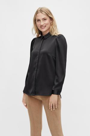 blouse VIDAYE van gerecycled polyester zwart