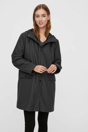 coated jas VMASTA donkergrijs