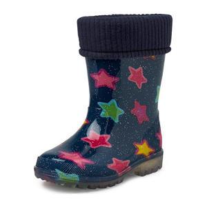 Ruby  regenlaarzen met sterrenprint blauw