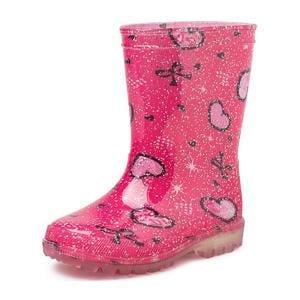 Vera  regenlaarzen met glitters roze