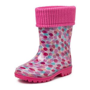 Puck  regenlaarzen met stippenprint roze