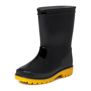 Alex  regenlaarzen zwart/geel kids