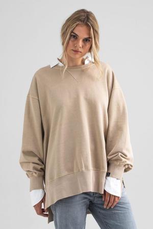 sweater van biologisch katoen beige