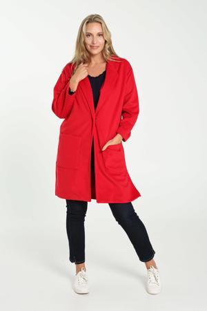 wollen  coat rood