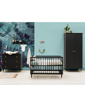 3-delige babykamer Mat Zwart CLOË