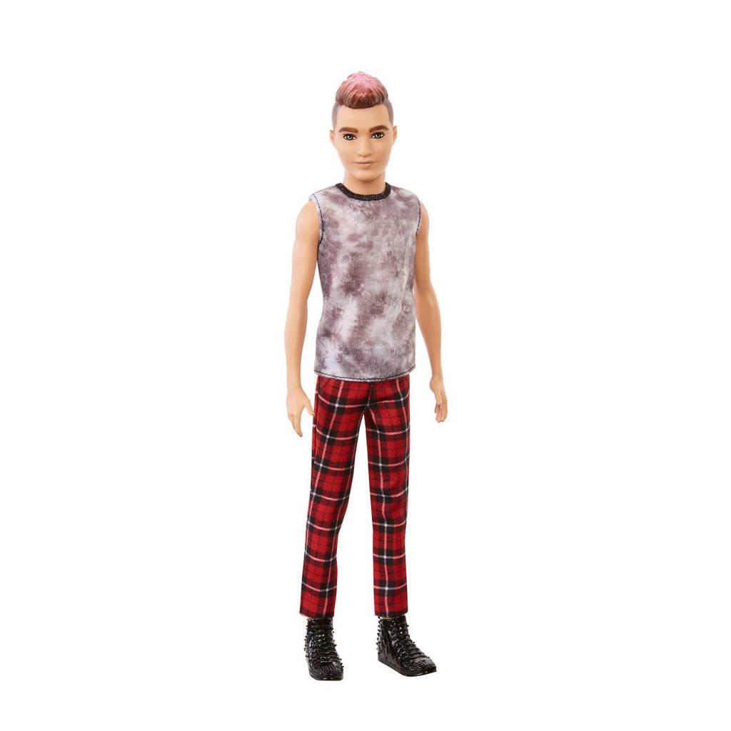 Barbie Ken Fashionista Pop met geruite broek en shirtje