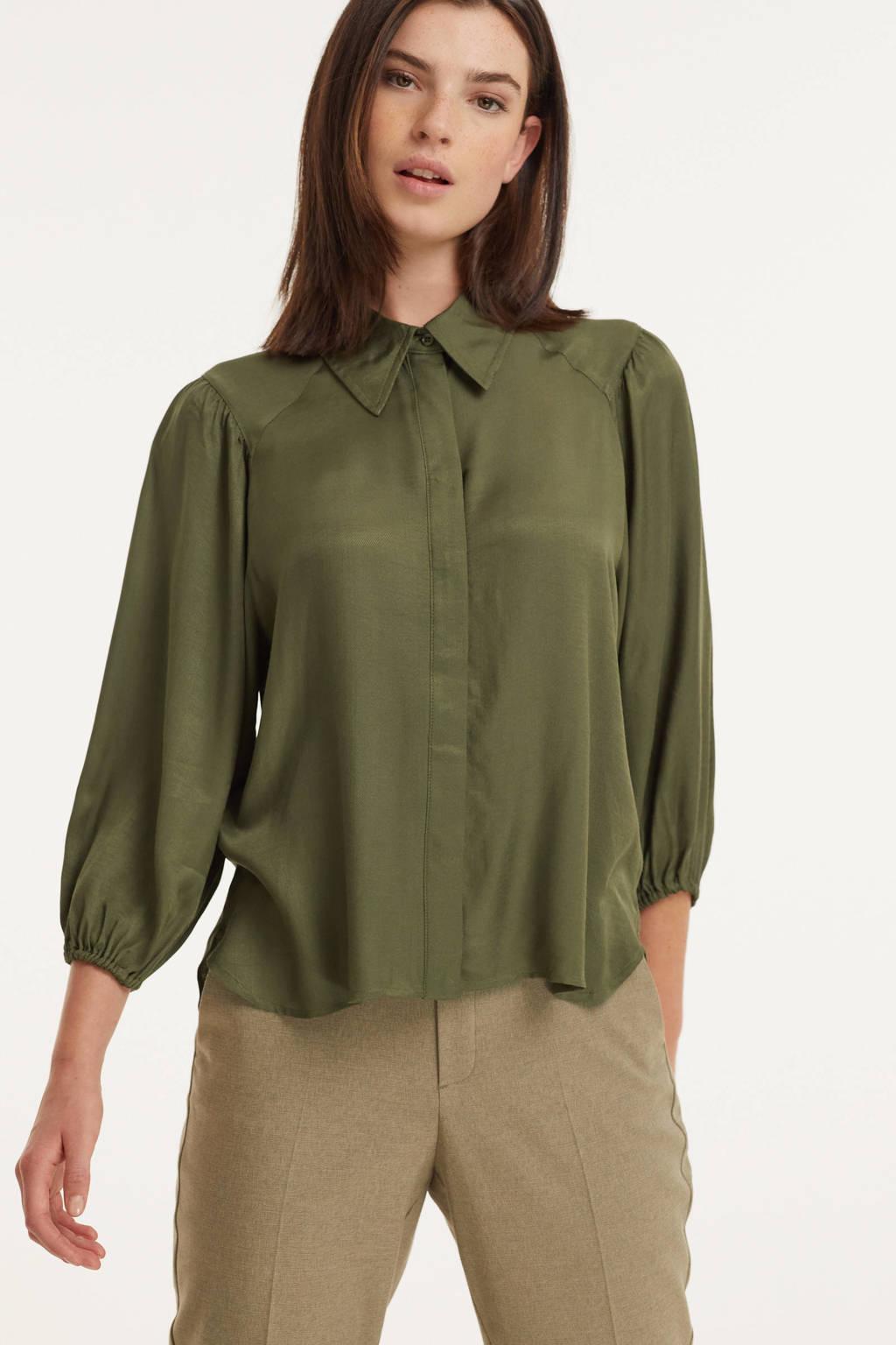 ICHI blouse IHCOLORADA groen, Groen