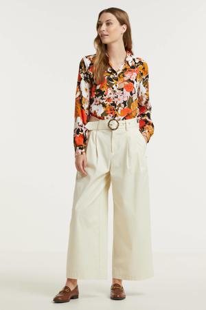 gebloemde blouse IHELIXEN oranje/donkergroen/wit/zwart/lichtroze