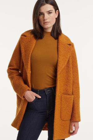coat winter IHSTIPA met wol oranje