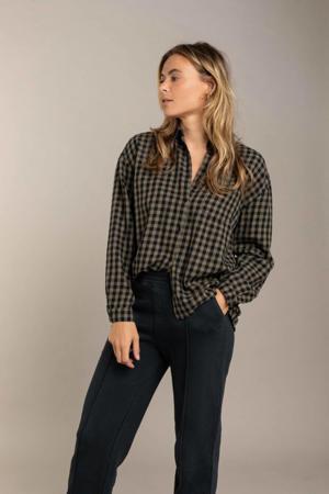 geruite blouse groen
