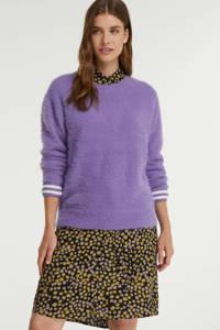 Anna Blue trui met contrastbies paars, Paars