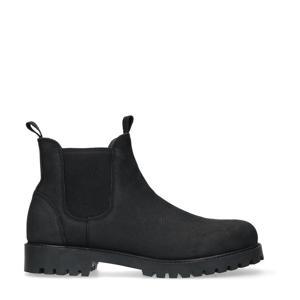 nubuck chelsea boots zwart