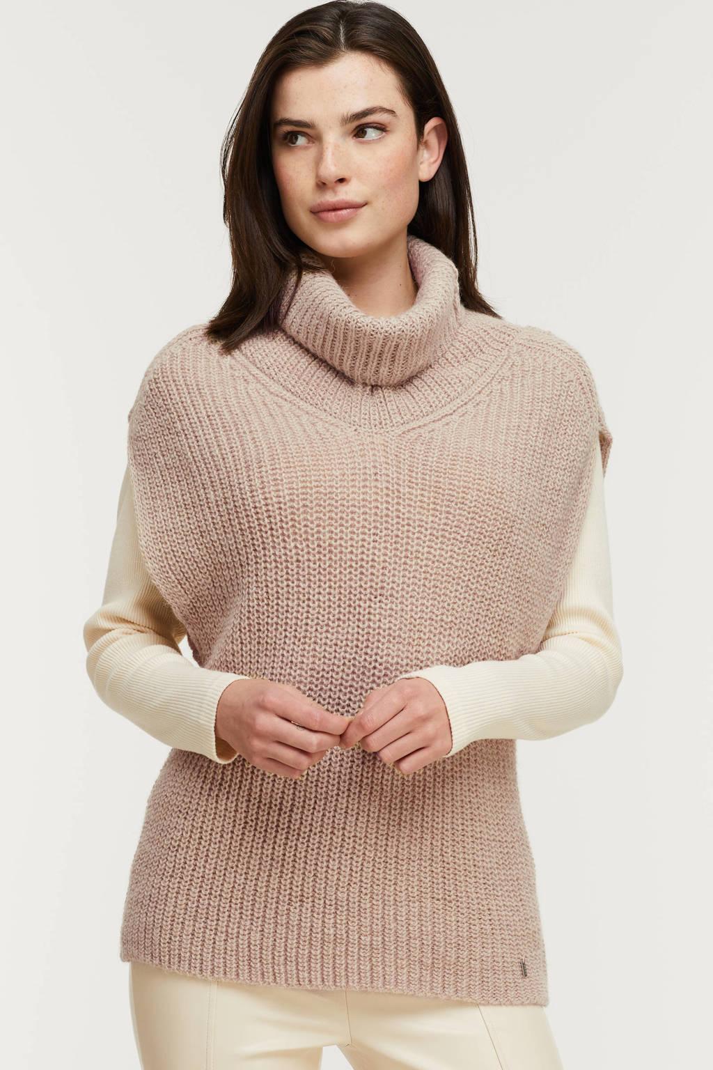 Anna gebreide trui met wol beige, Beige