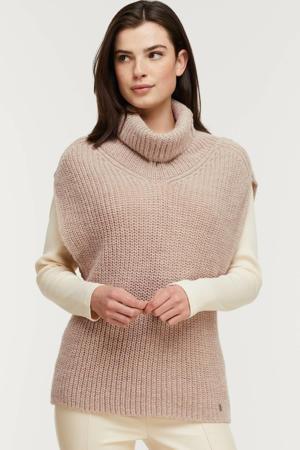 gebreide trui met wol beige
