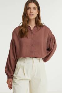 Anna blouse bruin, Bruin
