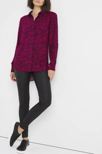 Simply Be blouse met zebraprint roze/zwart, Roze/zwart