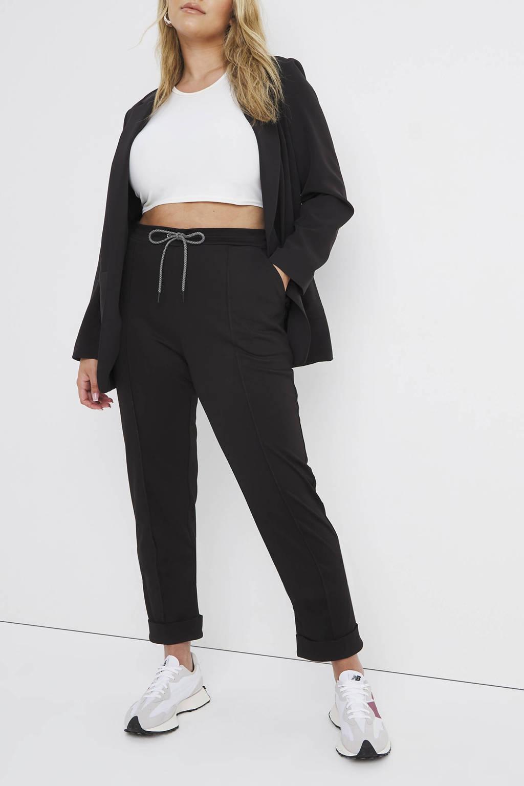 Simply Be high waist slim fit broek zwart, Zwart