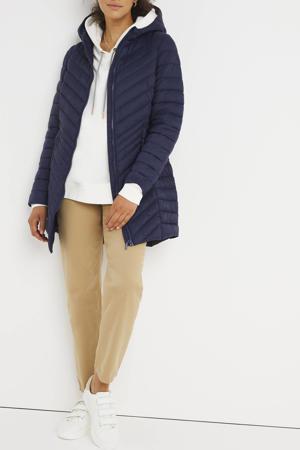 gewatteerde jas donkerblauw