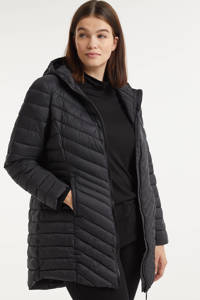 Simply Be gewatteerde jas zwart, Zwart