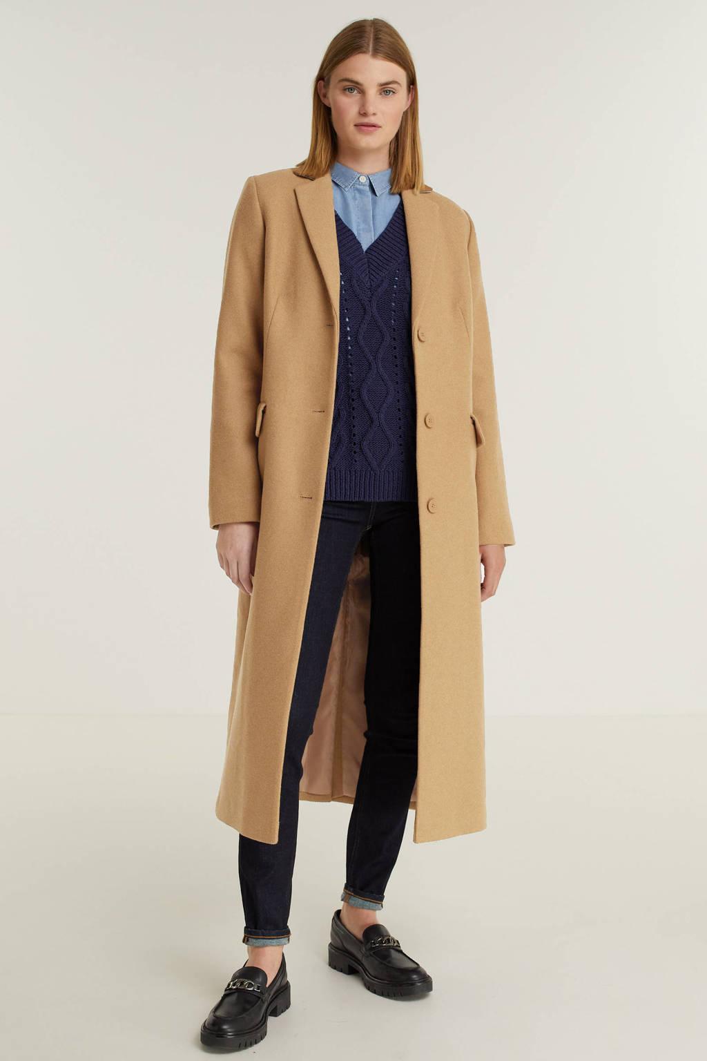 ESPRIT Women Collection  coat met wol camel, Camel