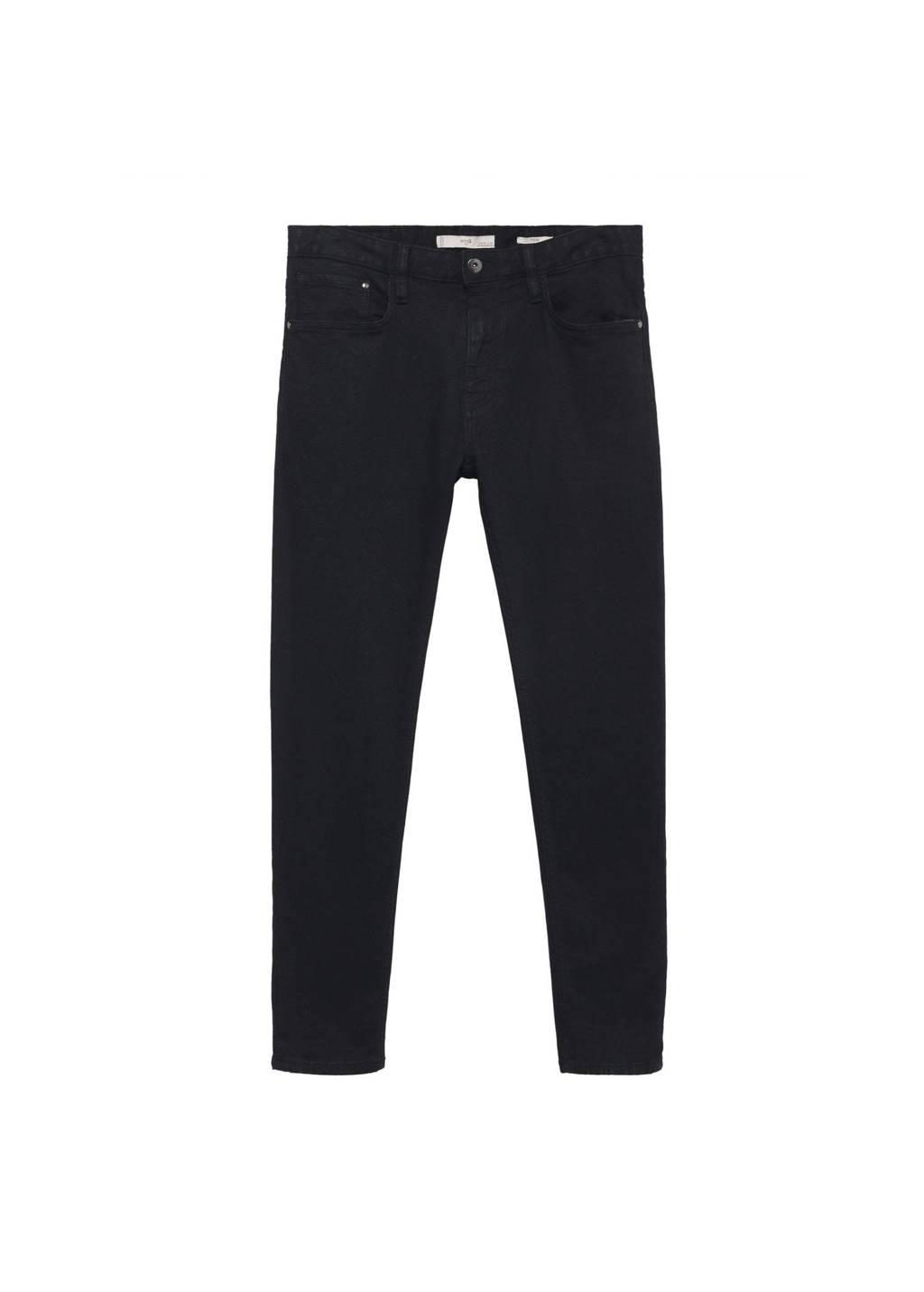 Mango Man tapered fit jeans zwart, Zwart
