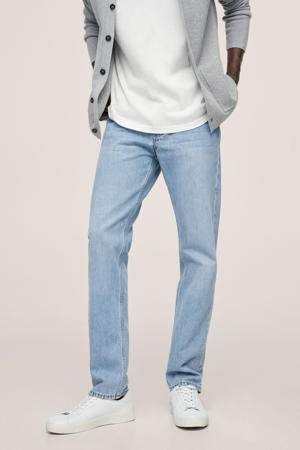 straight fit jeans changeant blauw