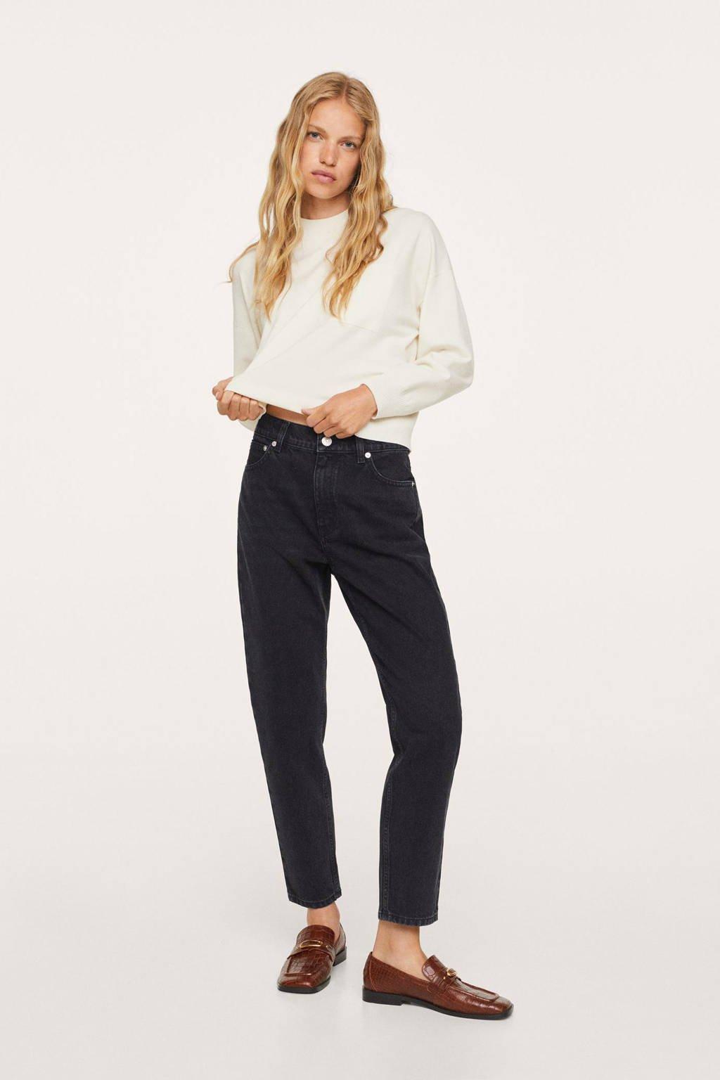 Mango high waist mom jeans changeant grijs