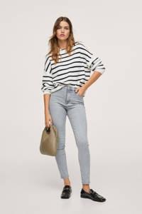Mango high waist skinny jeans grijs, Grijs
