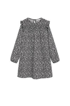 jurk van gerecycled polyester zwart/wit
