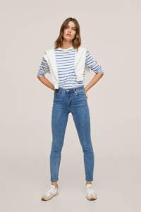 Mango high waist skinny jeans blue denim, Blue denim