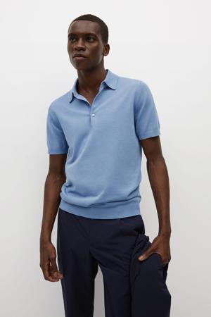 fijngebreide regular fit shirt lichtblauw