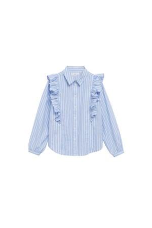 gestreepte blouse middenblauw/wit