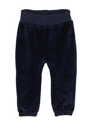 baby fluwelen broek donkerblauw