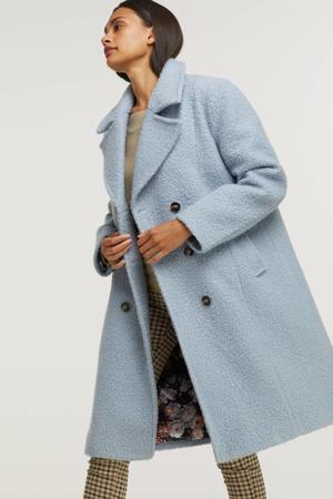 coat Merel  met wol lichtblauw