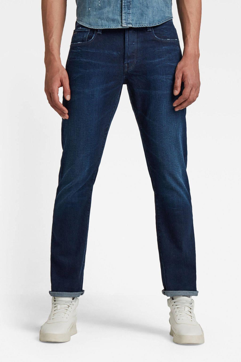G-Star RAW 3301 straight fit jeans worn in ultramarine