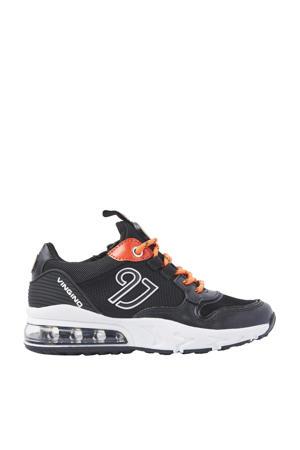 Giulio  leren sneakers donkerblauw