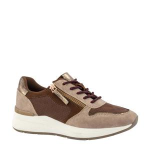 sneakers bruin/beige
